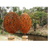 Cheap Vintage Style Corten Steel Sculpture Corrosion Stability Customized Size for sale