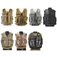 Cheap Camo Light Weight Paintball Tactical Vest , Police Military Army Airsoft Vest for sale