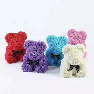 Cheap Top sale diy handmade foam rose bear 25 colors styrofoam bear for sale