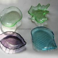 Buy cheap Eco-friendly Colorful Small Glass Plate for Tableware, Barware, Bar Set, from wholesalers