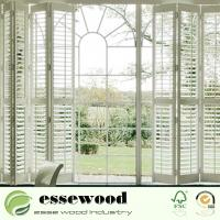 Cheap Interior Plantation Style PVC Wooden Window Blinds Shutters for sale