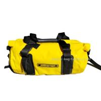 Cheap 30L Bright Yellow Tarpaulin PVC Motorcycle Duffel Dry Bags / Waterproof Camping Bag for sale