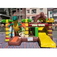 Cheap Dinosaur Park Inflatable Bounce Slide Combo Jumping Castle With Slide For Inflatable Games for sale