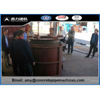 Professional Concrete Tube Making Machine , Cement Pipe Forming Machine Less Process