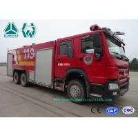 Cheap Howo 266 Hp Emergency Rescue Fire Fighting Truck  6 X 4 With High Pressure Pump for sale