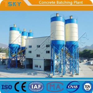 Cheap Hydraulic Rod Discharge HZS60 Concrete Batch Mix Plant for sale