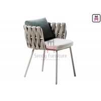 Cheap Balcony Terrace Waterproof  0.45cbm Woven Rope Dining Chair for sale