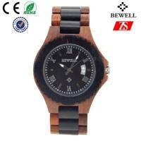 Cheap Japan Movement Wooden Wrist Watch With Spring Buckle , Logo Customized for sale
