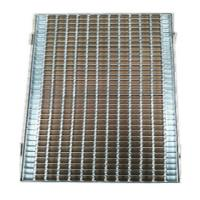 Cheap Zinc Welded Walkway Walk Mesh Steel Grid Grill Grates Grating 25~40 mm Height for sale
