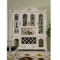 Cheap white wooden 4 doors glass cabinet for sale