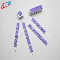 Buy cheap 1mmT Thin China Factory Low Price Violet 2W Silicone Thermal Gap Pad High Quality Soft Thermal  Silicone Sheet for LCD from wholesalers