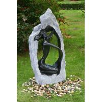 Outside Garden Statue Water Fountains With Fiberglass / Cement / Magnesia Material