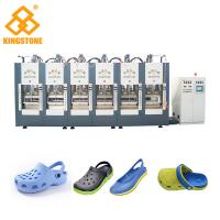 Cheap Two Stations EVA Shoes Slipper Making Machine With Full Automatic Open - Close Mould for sale