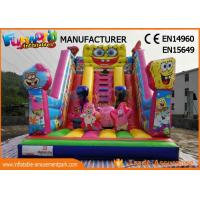 Buy cheap Amusement Park Giant Inflatable Water Slide For Adult / Pvc Spongebob Slide from wholesalers