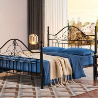 Cheap Platform Heavy Duty Structure Humanized Queen Size Iron Bed Frame for sale