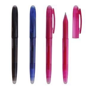 China hot selling erasable gel ink pen, erasable gel ballpen,gel pen with eraser on sale