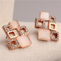 Buy cheap China Manufacturer Women's Rose Gold Plated Clear Crystal & Simulated White Opal from wholesalers