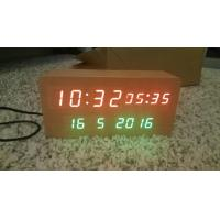 Cheap wood alarm azan clock quran speaker on table clock inside 8GB TF card Arabic languages with IR control for sale