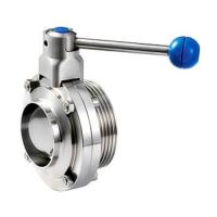 Cheap Sanitary stainless steel 304 316L butterfly valves With Thread And Weld Connection for sale