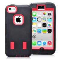 Cheap General Red & Black Robot Combo Case For Iphone 5c Hybride Case Cover for sale