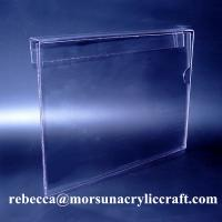 China Hanging A4 Plexiglass Ticket Holder PMMA Poster Holder Clear Acrylic Price Holder on sale