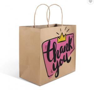 Cheap FSC Pantone Color 30gsm Paper Bags With Logo for sale