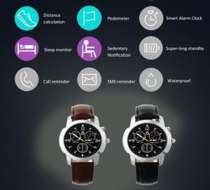 Quality waterproof Round screen bluetooth quartz watch smartwatch sport style wholesale