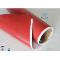 China 1.5m Wide 0.45mm Silicone Coated Fiberglass Fabric 80g Single Side Chemical Resist on sale