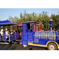Cheap Outdoor Diesel Trackless Train Amusement Ride Vacuum Tyre For Large Scenic Area for sale