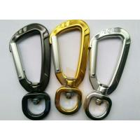 Cheap 91MM Height Spring Snap Clip , Light Weight High Strength Heavy Duty Carabiner Clips for sale