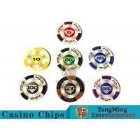 Cheap 14 Gram Matte Sticker Custom Clay Poker Chips With 25pcs In A Shrink Roll for sale