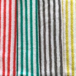 Cheap stripe 100% polyester stripe towel for sale