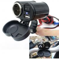 Buy cheap 12V Waterproof Motorcycle Usb Charger Power Adapter with Cigarette Lighter from wholesalers