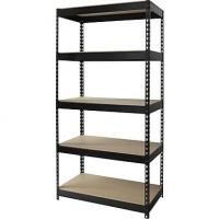 Durable Home Wire Shelving , Boltness Wire Pantry Shelving With Wooden Shelves
