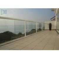 Cheap Customized Outdoor Stair Handrail Corrosion Resistance Aluminum Glass Railing for sale