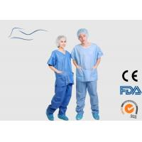 Cheap Eco Friendly Scrub Suit For Men Around Neck Style CE / ISO Certification for sale