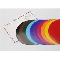 Cheap Lick - To - Stick Colored Paper Circles , Glossy Construction Paper Circles for sale