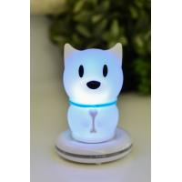 Cheap Small Carton Dog Rechargeable Night Lamp / Bedside Newborn Night Light for sale