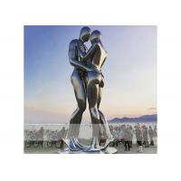 Cheap Square Decoration Modern Stainless Steel Sculpture Metal Lover Sculptures for sale