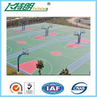 Cheap Environmental Outdoor Athletic Court Polyurethane Sports Flooring Green for sale