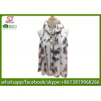 China China manufactuer buttlefly print scarf 100% Acrylic 82*200cm shawl  hijab online wholesale exporter on sale