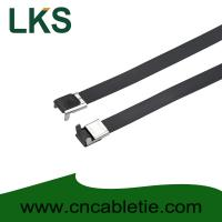 Cheap 16×500mm L Type PVC coated stainless steel cable tie-Wing Lock type for sale