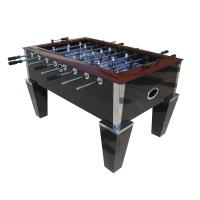 Deluxe Soccer Game Table 5FT Wood Top Rail With Metal Corner Chrome OEM