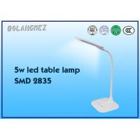 Cheap battery led table lamp 5W with ABS material white color SMD2538 led bulb for sale