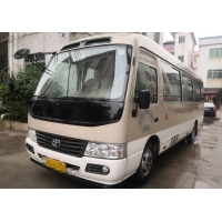 Cheap 2017 Year 23 Seats Gasoline Used Toyota Coaster Bus Used Mini Coach Bus for sale