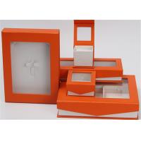 Cheap Kraft Paper Jewelry Box Screen Printing Logo With Lids Environmentally Friendly for sale