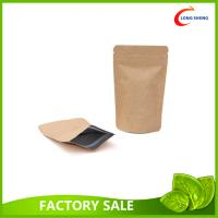 Dried Food Packaging Kraft Zipper Pouch Bags With Sticker