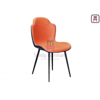 Cheap 0.38cbm PU Leather Upholstered Dining Chair Metal Frame for sale