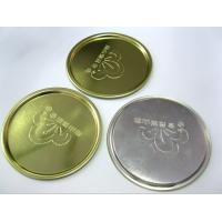 Cheap 73mm 300# Round Tin Can Bottom Lids Silver Aluminum Tinplate 0.23mm Thickness for sale
