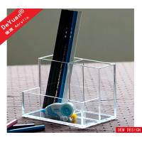 China Plastic Pen Holder Custom Acrylic Stationery Holder Custom Size on sale